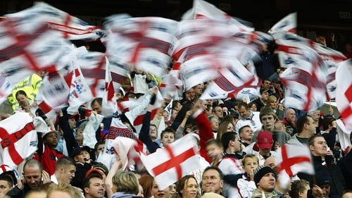England supporters were staying in Porto ahead of Thursday's match in nearby Guimaraes against the Netherlands