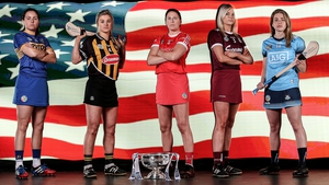 (L-R) Cait Devane of Tipperary, Grace Walsh of Kilkenny, Gemma O'Connor of Cork, Sarah Dervan of Galway and Aisling Maher of Dublin