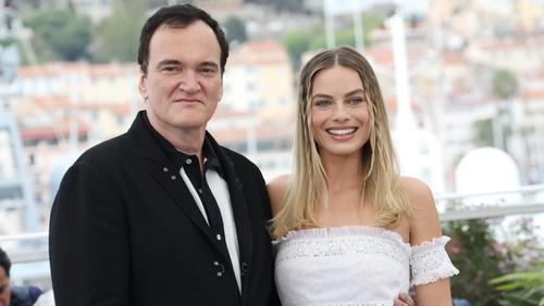 Quentin Tarantino and Margot Robbie