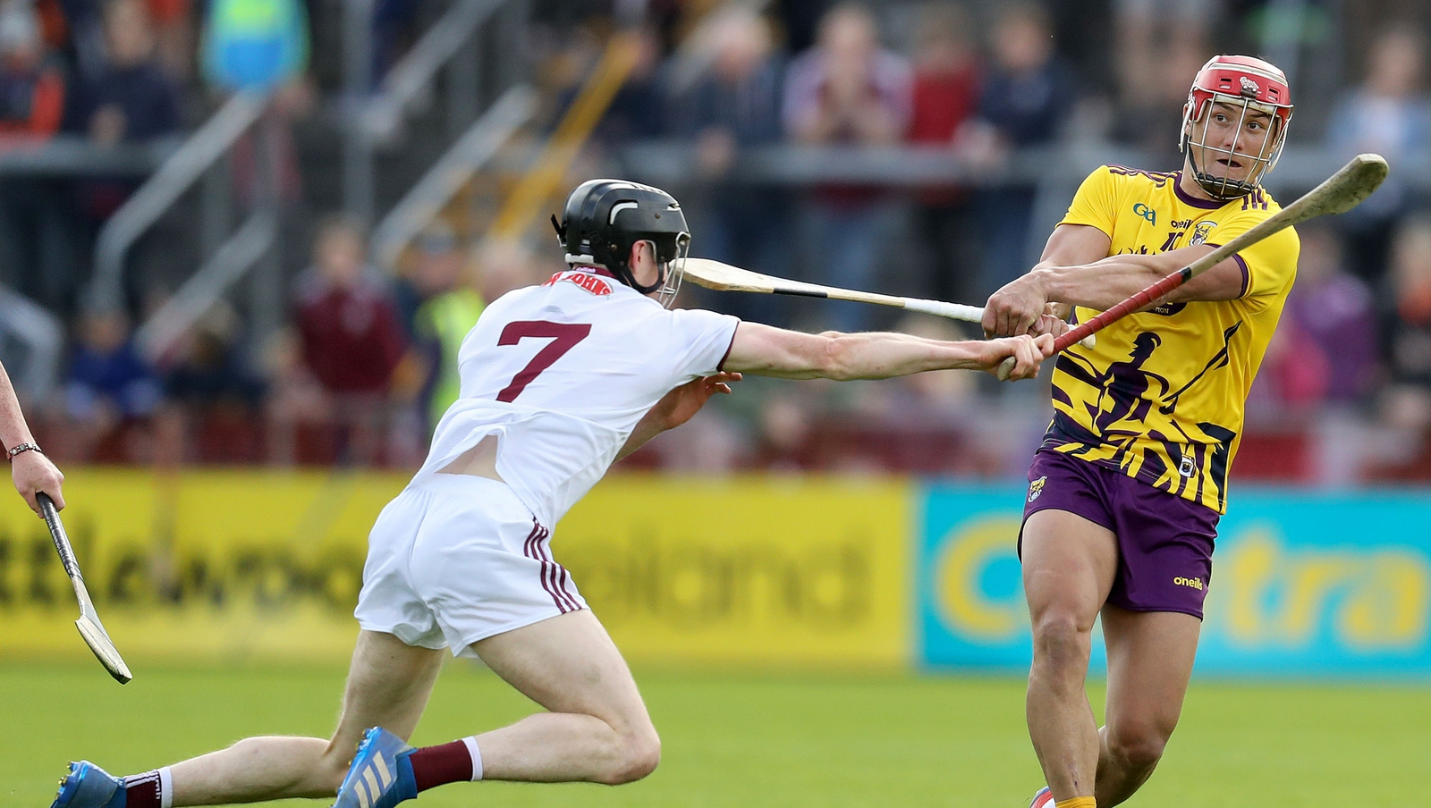 Image - Lee Chin was one player to struggle in the Salthill wind