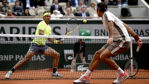 Rafael Nadal (L) has only ever lost two matches at Roland Garros