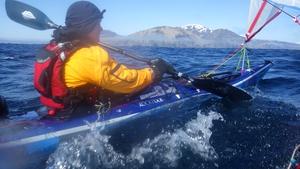 Sarah's trek across the Indian Ocean took 125 days