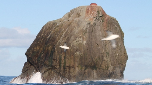 Ownership of Rockall has long been a source of dispute between the Irish and UK authorities (Pic: Irish Naval Service)
