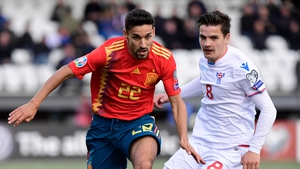Jesus Navas scored his first international goal in six years