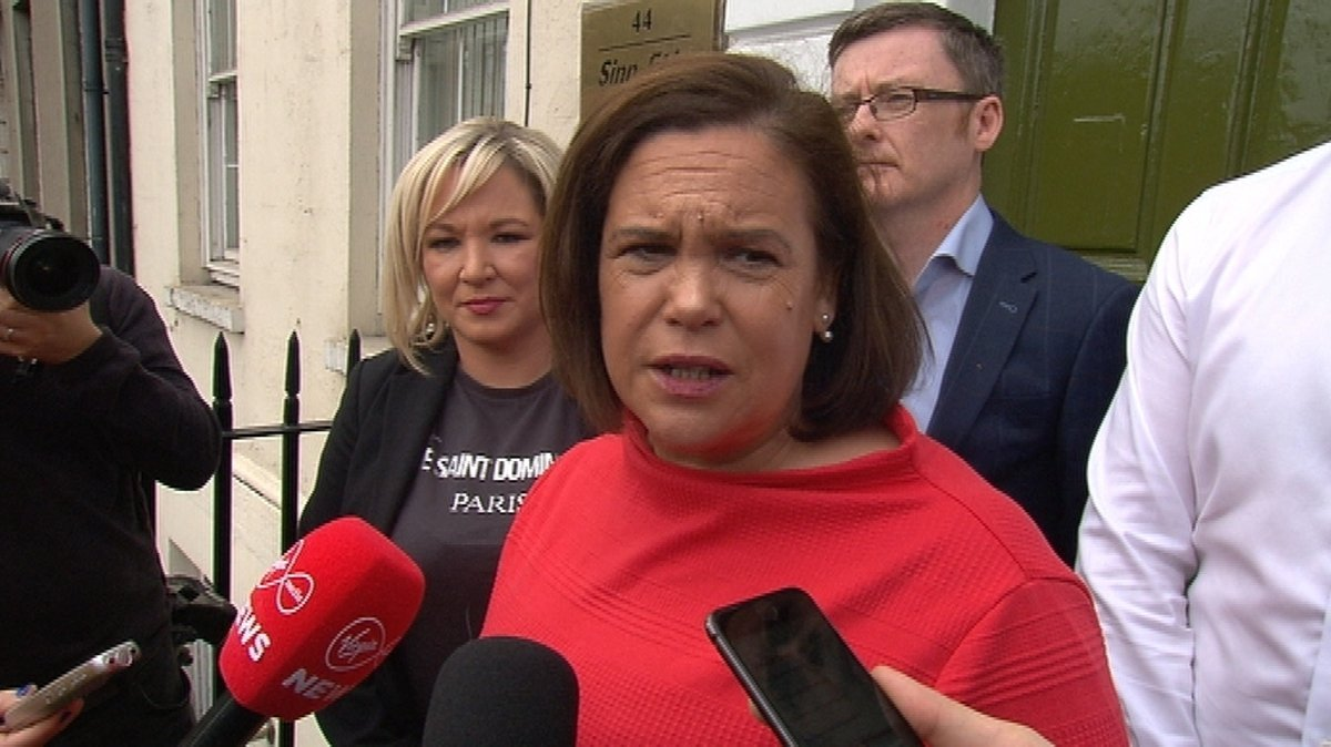 """Mary Lou McDonald said she is """"determined"""" that Sinn Féin moves forward in a positive way following the recent elections"""