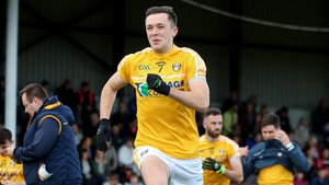 Antrim's Niall Delargy before the game