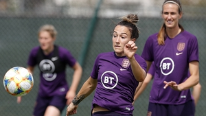 England's Lucy Bronze training ahead of World Cup opener