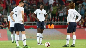 France slumped to a 2-0 defeat in Turkey