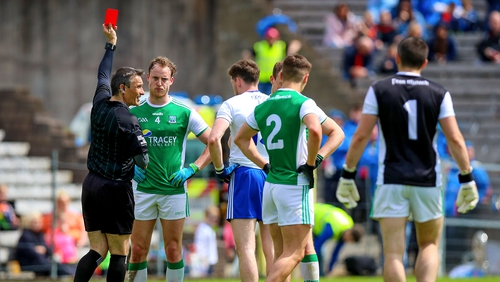 Lee Cullen was one of three Fermanagh players sent off