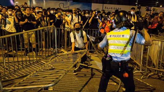 Violence mars end of huge Hong Kong protest against China extradition bill