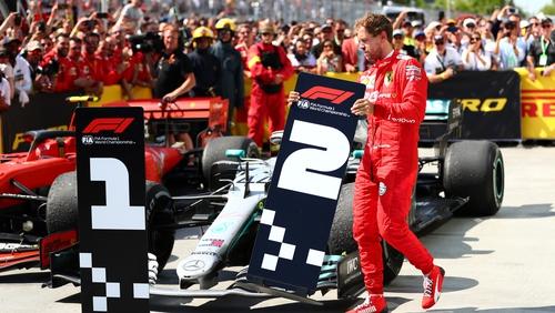 Sebastian Vettel petulantly moves the race result order