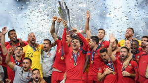 Goncalo Guedes second half goal gave Portugal their first Nations League title