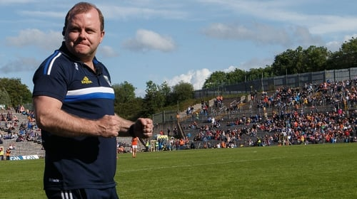 Cavan manager Mickey Graham celebrates at the final whistle