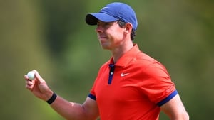 Rory McIlroy was nine under par on the day in Hamilton