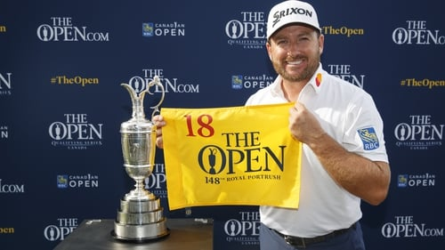 Graeme McDowell was presented with an Open flag following qualification