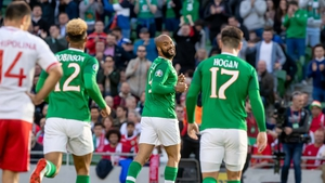 David McGoldrick celebrates Ireland's opener