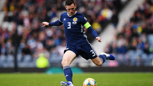 Andy Robertson scored in the 2-1 win over Cyprus at Hampden Park