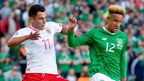 Callum Robinson in action against Gibraltar