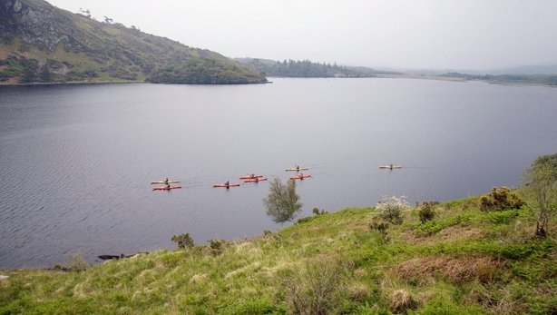 Sweaty and serene: Kayaking across Caragh Lake (Tadhg Hayes/PA)