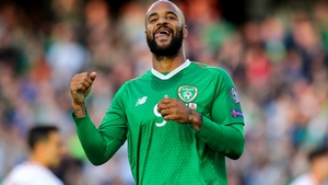 David McGoldrick was originally credited with Ireland's opener