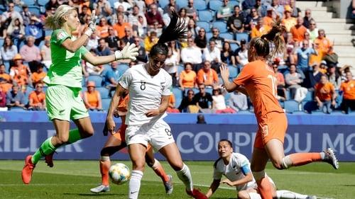 Jill Roord headed an injury-time winner against New Zealand