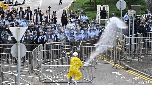 Clashes break out as Hong Kong protesters try to reach parliament