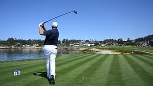 Shane Lowry during his practice round at Pebble Beach