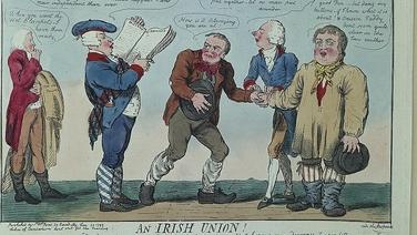 Ceann de na cartúin i mBailiúchán Leabharlann an Oireachtais