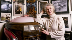 "Philomena Lynott at home in ""White Horses"" in Sutton, Co Dublin. Photographed by John Cooney for the RTÉ Guide in 1995"