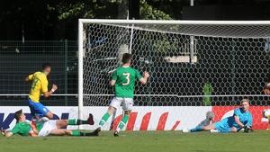 Brazil's Paulinho breaks the deadlock against the Republic of Ireland