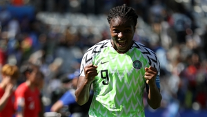 Asisat Oshoala celebrates her side's victory
