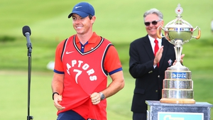 Rory McIlroy became a Toronto Raptors fan for a few minutes, at least, at the presentation ceremony last Sunday in Canada