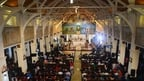 Sri Lankans celebrate mass at restored church