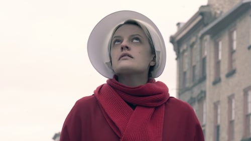 Elisabeth Moss as Offred/ Ofjoseph in the TV adaptation of Margaret Atwood's The Handmaid's Tale