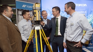 Mark Fagan, Topcon, Declan Byrne, Topcon, Sean Downey, Director, Specialist Contracting, CIF, Patrick O'Donovan, Minister of State, Department of Finance and Department of Public Expenditure and Reform and Karol Friel, Topcon