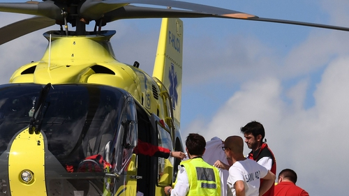 Froome was airlifted to hospital after the crash