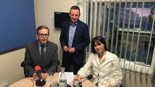 Your Politics team in the Dáil studio