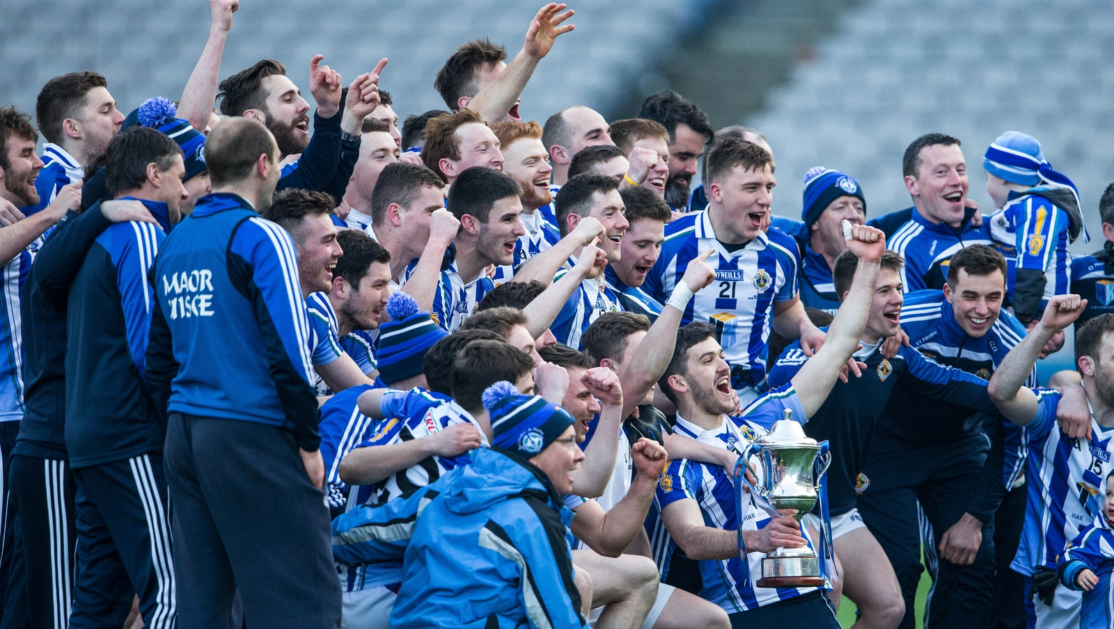 Image - Ballyboden St Enda players celebrate the 2016 All-Ireland club football title