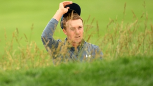 """Jordan Spieth: """"I was trying to clear it higher than that anyways but you don't really see that every day."""""""