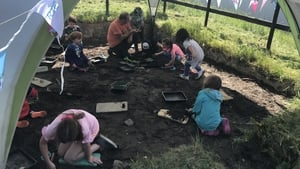 An archaeological dig for children at Blackfriary Trim, Co Meath