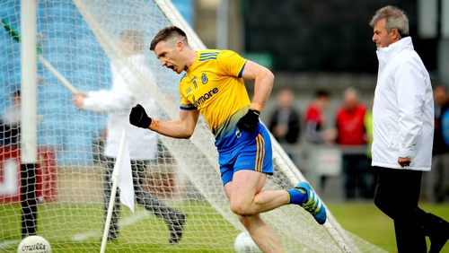 Cathal Cregg celebrates his goal against Mayo