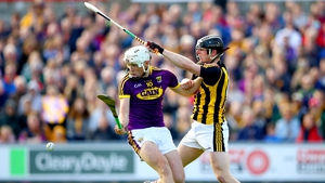 Wexford's Rory O'Connor and Enda Morrissey of Kilkenny