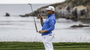 Woodland is aiming for a first major title in California on Sunday