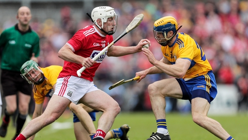 Cork's Patrick Horgan and Seadna Morey of Clare