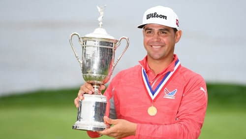 Gary Woodland claimed his first major championship by three strokes at Pebble Beach