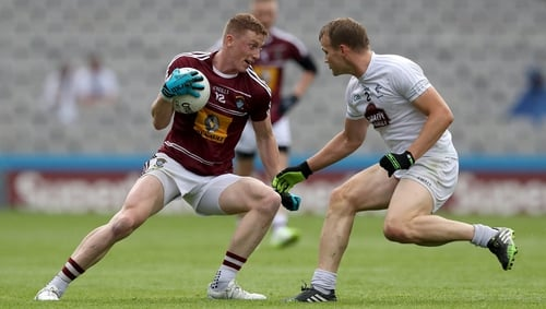 Ray Connellan (L) in action against Kildare in the 2016 Leinster SFC semi-final