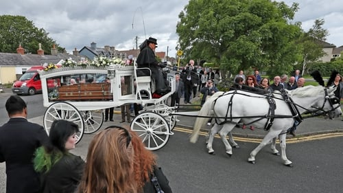 The funeral of Philomena Lynott took place at St Fintan's Church in Sutton, Dublin on Monday. Photo: Niall Carson/PA Images via Getty Images