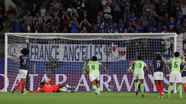 Wendie Renard of France missed a penalty that was subsequently retaken