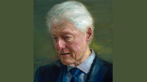 Portrait was unveiled last night at a gathering in Manhattan, New York