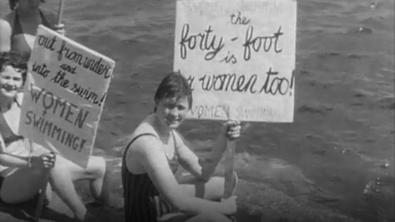 Women invade the Forty Foot